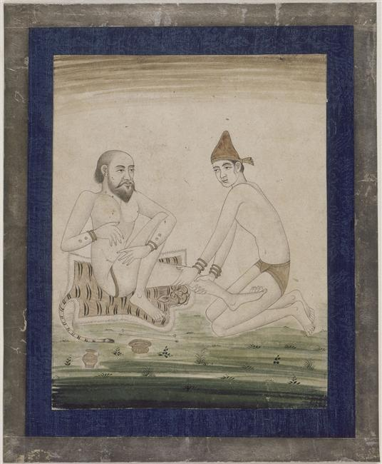 Tapis de souverain Moghol